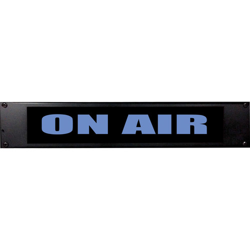American Recorder ON AIR Sign with LEDs (2 RU, English, Blue)
