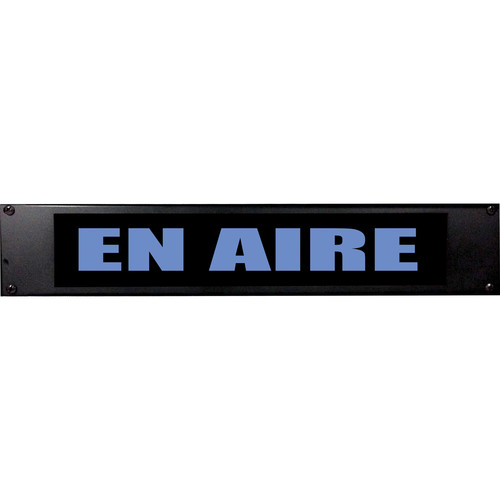 American Recorder EN AIRE Sign with LEDs (2 RU, Spanish, Blue)