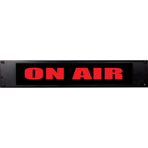 American Recorder ON AIR Sign with LEDs (2 RU, English, Red)