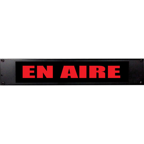 American Recorder EN AIRE Sign with LEDs (2 RU, Spanish, Red)