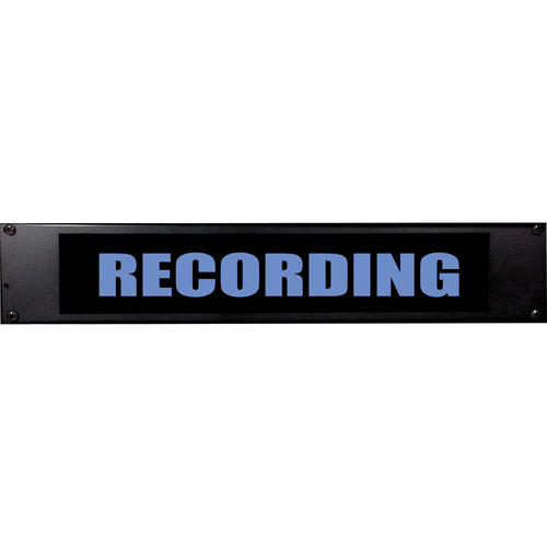 American Recorder RECORDING Sign with LEDs (2 RU, English, Blue)