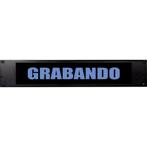 American Recorder GRABANDO Sign with LEDs (2 RU, Spanish, Blue)