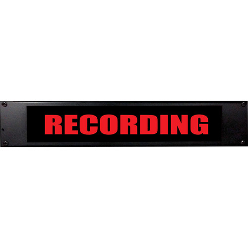 American Recorder RECORDING Sign with LEDs (2 RU, English, Red)