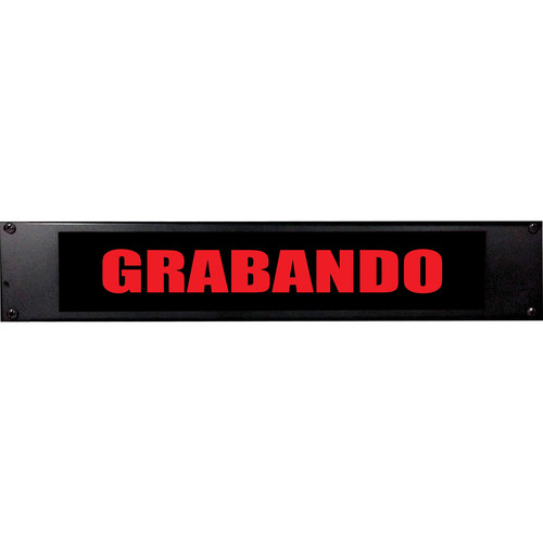 American Recorder GRABANDO Sign with LEDs (2 RU, Spanish, Red)