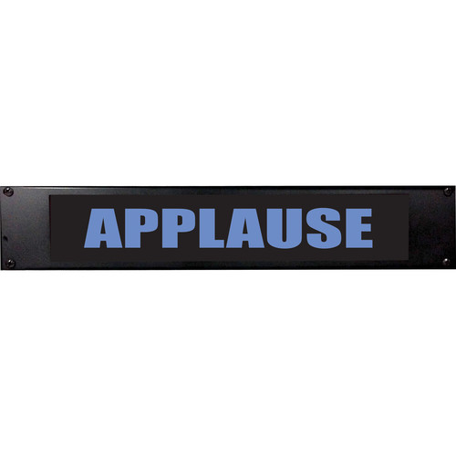 American Recorder APPLAUSE Sign with LEDs (2 RU, Blue)