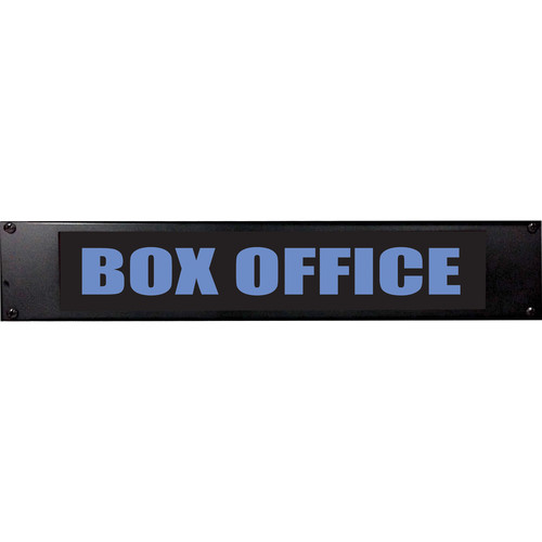 American Recorder BOX OFFICE Sign with LEDs (2 RU, Blue)