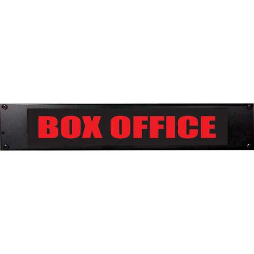 American Recorder BOX OFFICE Sign with LEDs (2 RU, Red)