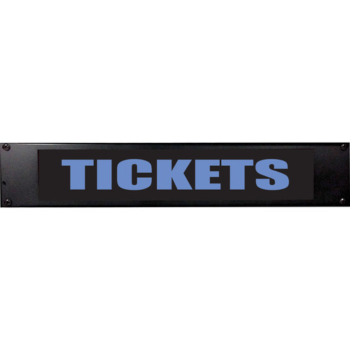 American Recorder TICKETS Sign with LEDs (2 RU, Blue)