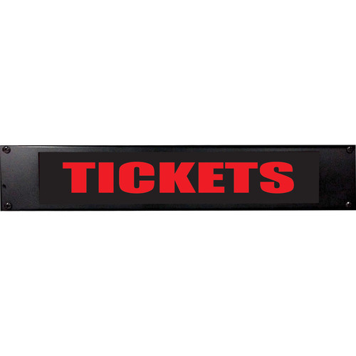 American Recorder TICKETS Sign with LEDs (2 RU, Red)