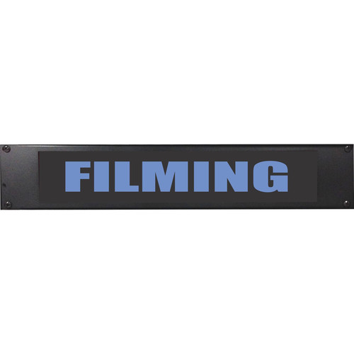 American Recorder FILMING Rackmount Indicator Sign with LEDs (2 RU, Blue)