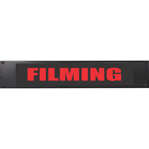 American Recorder FILMING Rackmount Indicator Sign with LEDs (2 RU, Red)