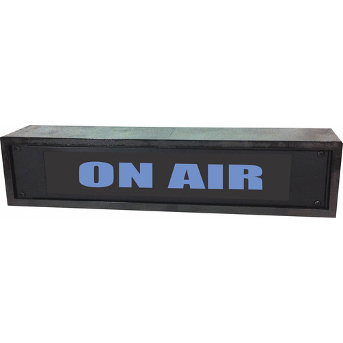 American Recorder ON AIR Rackmount Indicator Sign with Black, Maple, and Rosewood Enclosure (2 RU, Blue)