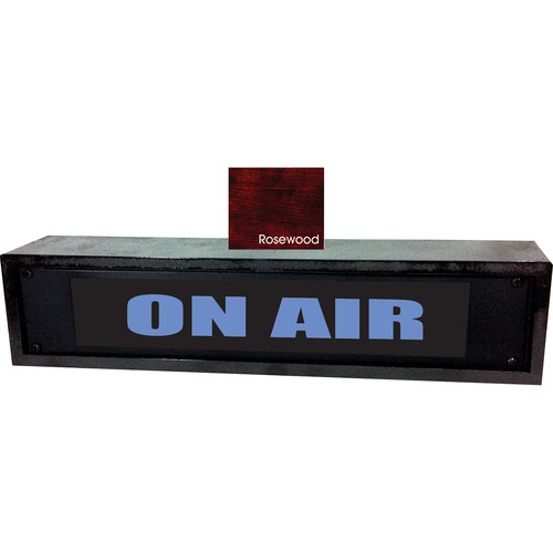 American Recorder ON AIR Sign with LEDs & Rosewood Enclosure (2 RU, English, Blue)