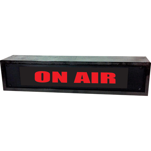 American Recorder ON AIR Sign with LEDs & Black Enclosure (2 RU, English, Red)