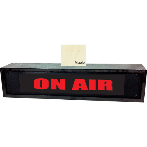 American Recorder ON AIR Sign with LEDs & Maple Enclosure (2 RU, English, Red)