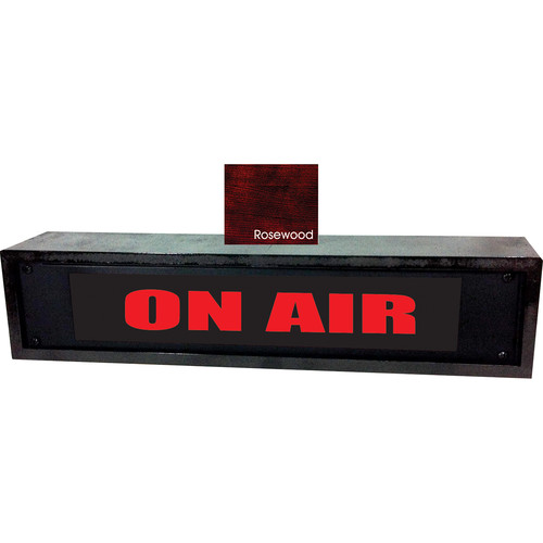 American Recorder ON AIR Sign with LEDs & Rosewood Enclosure (2 RU, English, Red)