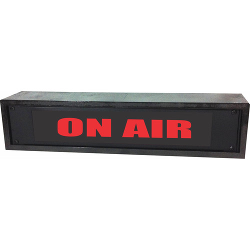 American Recorder ON AIR Rackmount Indicator Sign with Black, Maple, and Rosewood Enclosure (2 RU, Red)