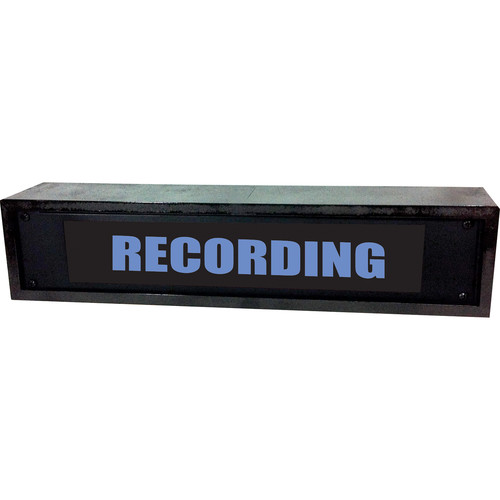 American Recorder RECORDING Sign with LEDs & Black Enclosure (2 RU, English, Blue)