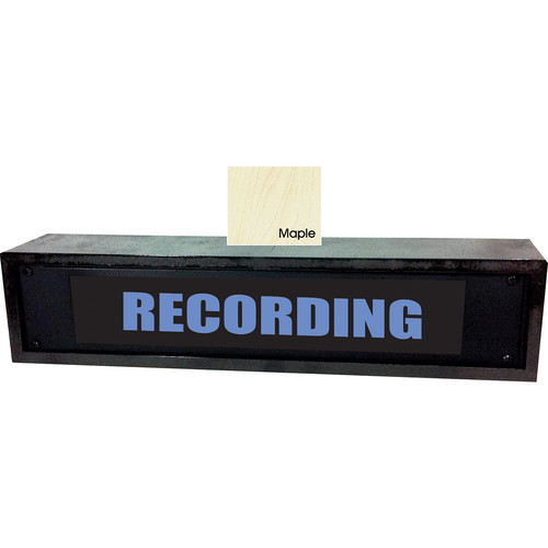 American Recorder RECORDING Sign with LEDs & Maple Enclosure (2 RU, English, Blue)
