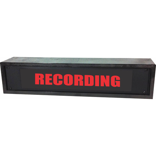 American Recorder RECORDING Rackmount Indicator Sign with LEDs and Black Enclosure (2 RU, Red)