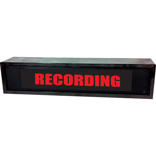 American Recorder RECORDING Sign with LEDs & Black Enclosure (2 RU, English, Red)