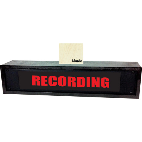 American Recorder RECORDING Sign with LEDs & Maple Enclosure (2 RU, English, Red)