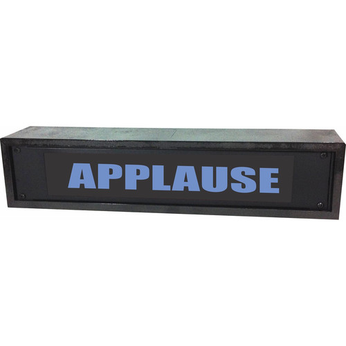 American Recorder APPLAUSE Rackmount Indicator Sign with LEDs and Black Enclosure (2 RU, BLue)