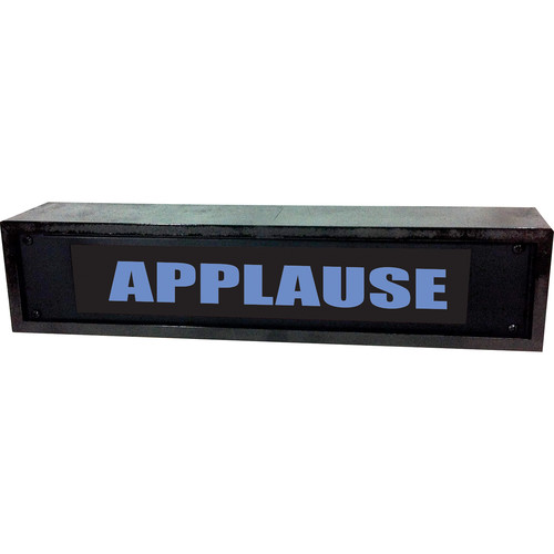 American Recorder APPLAUSE Sign with LEDs & Black Enclosure (2 RU, Blue)