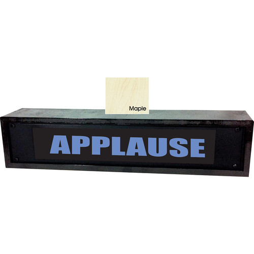 American Recorder APPLAUSE Sign with LEDs & Maple Enclosure (2 RU, Blue)