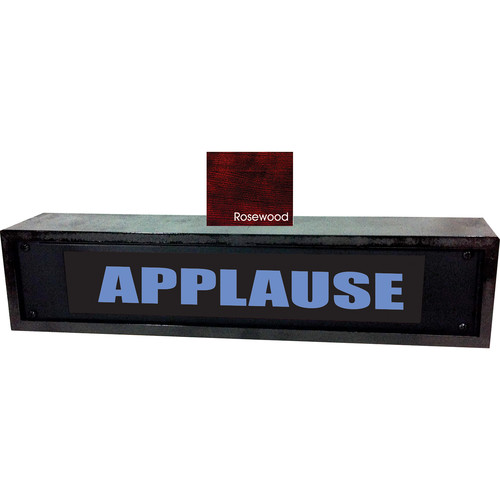 American Recorder APPLAUSE Sign with LEDs & Rosewood Enclosure (2 RU, Blue)