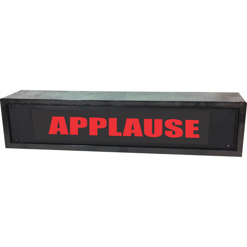 American Recorder APPLAUSE Rackmount Indicator Sign with LEDs and Black Enclosure (2 RU, Red)