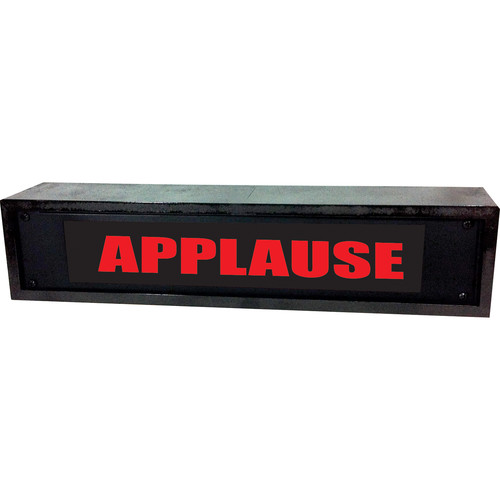 American Recorder APPLAUSE Sign with LEDs & Black Enclosure (2 RU, Red)