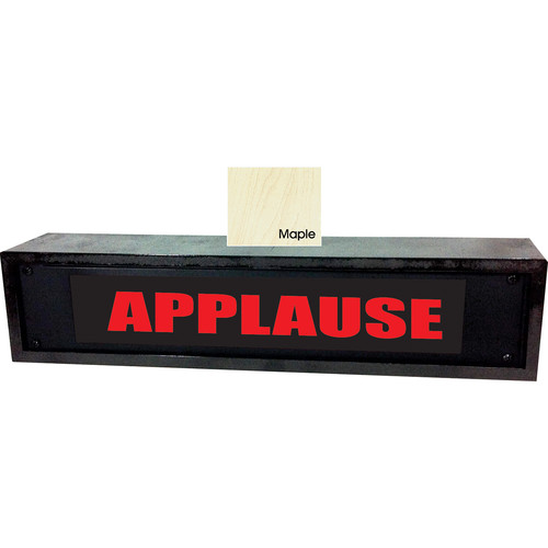 American Recorder APPLAUSE Sign with LEDs & Maple Enclosure (2 RU, Red)