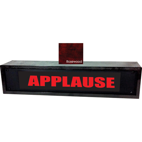 American Recorder APPLAUSE Sign with LEDs & Rosewood Enclosure (2 RU, Red)