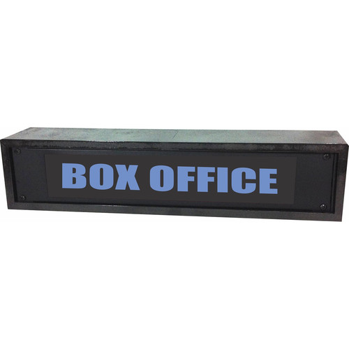 American Recorder BOX OFFICE Rackmount Indicator Sign with LEDs and Black Enclosure (2 RU, Blue)