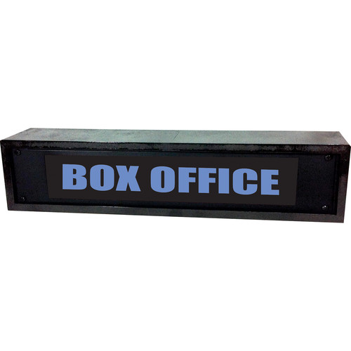 American Recorder BOX OFFICE Sign with LEDs & Black Enclosure (2 RU, Blue)