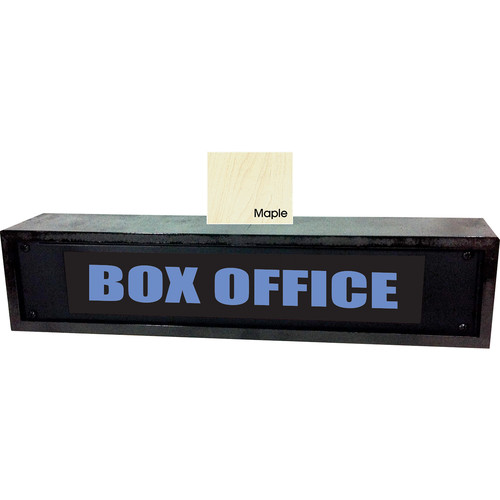 American Recorder BOX OFFICE Sign with LEDs & Maple Enclosure (2 RU, Blue)