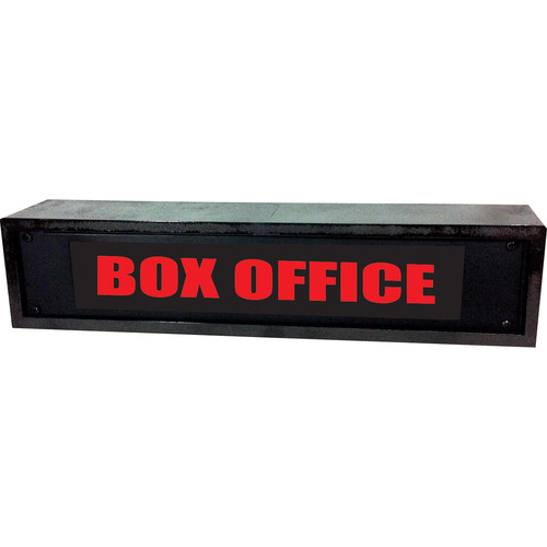American Recorder BOX OFFICE Sign with LEDs & Black Enclosure (2 RU, Red)