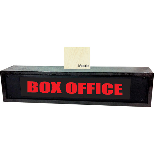American Recorder BOX OFFICE Sign with LEDs & Maple Enclosure (2 RU, Red)