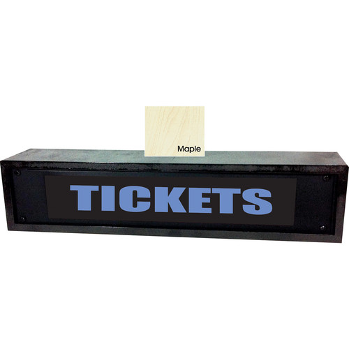 American Recorder TICKETS Sign with LEDs & Maple Enclosure (2 RU, Blue)