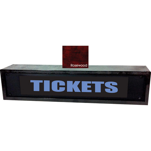 American Recorder TICKETS Sign with LEDs & Rosewood Enclosure (2 RU, Blue)