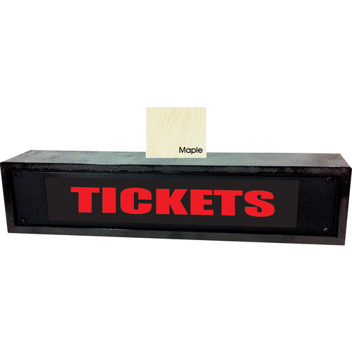 American Recorder TICKETS Sign with LEDs & Maple Enclosure (2 RU, Red)