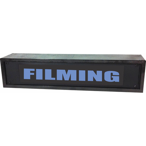 American Recorder FILMING Rackmount Indicator Sign with LEDs and Black Enclosure (2 RU, Blue)
