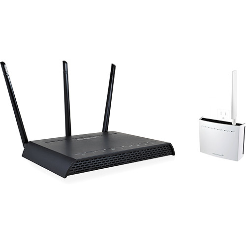 Amped Wireless High Power AC1750 Wi-Fi Router Kit with Amped Wireless Plug-In Wi-Fi Range Extender