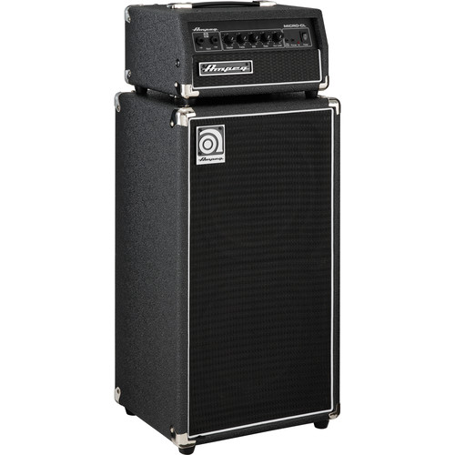 "Ampeg MICRO-CL SVT-Style 2x10"" Cabinet with 100W Head Solid-State Amplifier Stack"