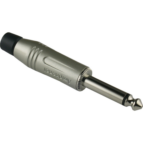 """Amphenol M Series 1/4"""" Mono Straight Cable Connector with Nickel Plated Contacts (Satin)"""