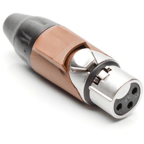 Amphenol AX3F1M 3-Pole Female XLR Connector with Satin-Nickel Finish (Brown Mark Sleeve)