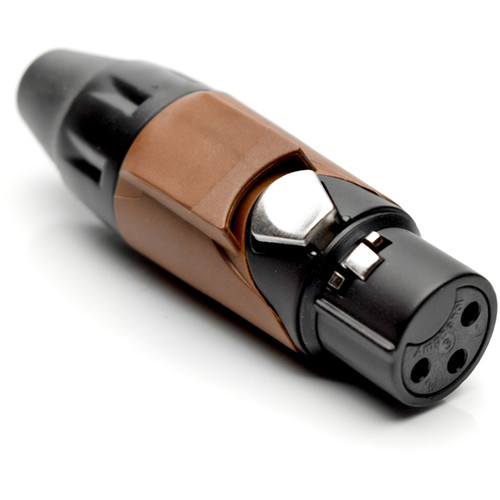 Amphenol AX3FB1M-AU 3-Pole Female XLR Connector with Gold Contacts and Black Finish (Bown Mark Sleeve)