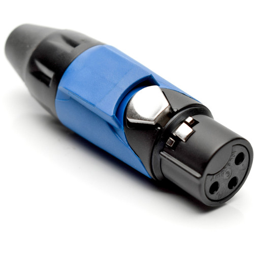 Amphenol AX3FB6M-AU 3-Pole Female XLR Connector with Gold Contacts and Black Finish (Blue Mark Sleeve)