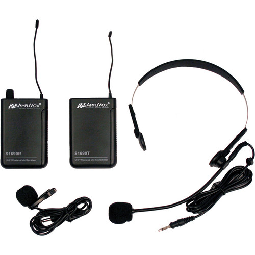 AmpliVox Sound Systems S1601 Lapel and Headset Microphone Wireless System